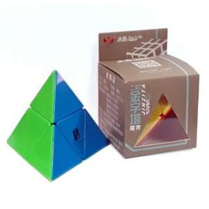 YJ 2x2 Pyraminx Stickerless Magic Cube