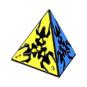 Qiyi Gear Pyraminx Black with tiles