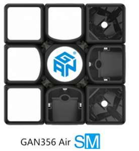 Gans 356 Air S Magnetic 3x3 Black